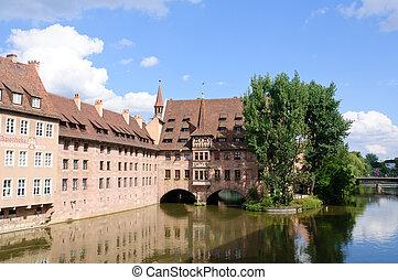 Nuremberg, Germany - Heilig-Geist-Spital in Nuremberg,...