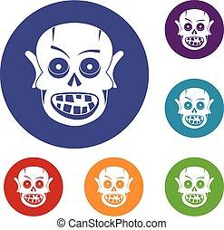 Living dead icons set