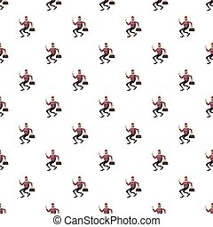Robber pattern seamless repeat in cartoon style vector...
