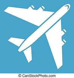 Passenger airliner icon white