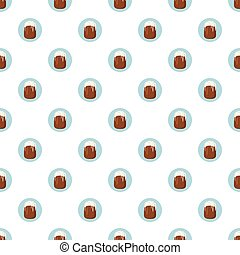 Easter cake pattern seamless repeat in cartoon style vector...
