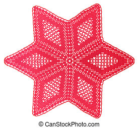 Christmas Star - Christmas Red Star connected with the hook