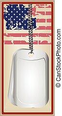 Vintage card US military medallion