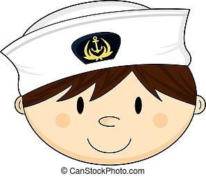 Cute Navy Crewman Head