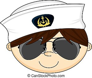 Navy Crewman in Shades