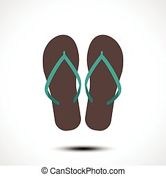 Flip flop icon. Vector illustration