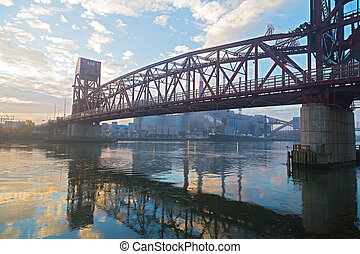 Roosevelt Island Bridge across the East Channel of the East...