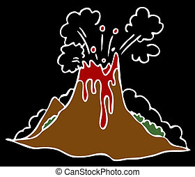 Erupting Volcano - An image of a exploding volcano on a...
