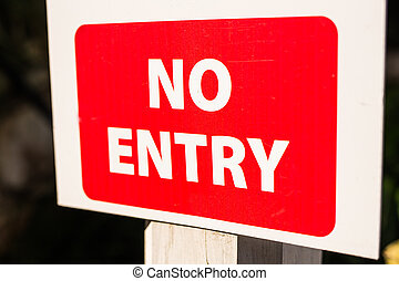 No entry sign, Traffic sign, no entry for traffic