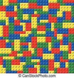 Plastic Toy Brick System Seamless Background