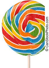 Lollipop Isolated - Isolated image of a colourful lollipop.