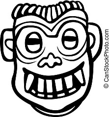 Ancient tribal mask