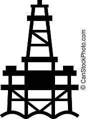 Sea oil rig platform, shade picture