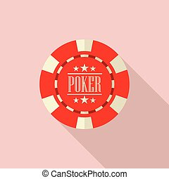 Poker chip vector illustration