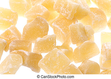 Dehydrated Ginger Isolated - Isolated macro image of...