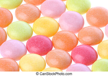 Colourful Sweets Isolated - Isolated macro image of...