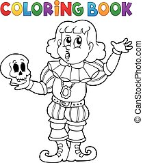 Coloring book actor theme 1 - eps10 vector illustration.