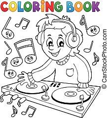 Coloring book DJ boy