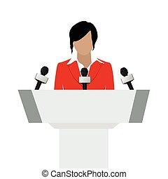 Woman speaker vector