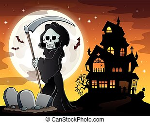 Grim reaper theme image 6 - eps10 vector illustration.