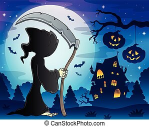 Grim reaper theme image 9 - eps10 vector illustration.
