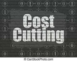 Finance concept: Cost Cutting on wall background