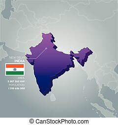 India information map.