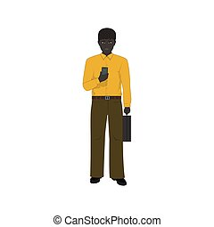 African American Businessman - African American Man with a...
