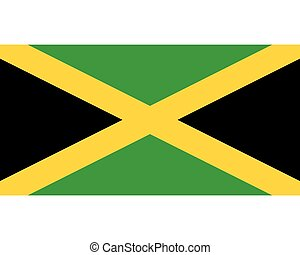 Colored flag of Jamaica