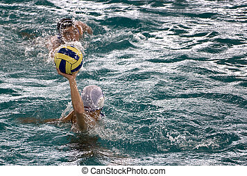 Water Polo Action - Men's water polo action between Vietnam...