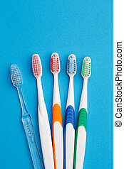 Photo of five colored toothbrush - Photo of colored...