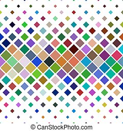 Abstract diagonal square pattern background - geometric vector graphic from squares