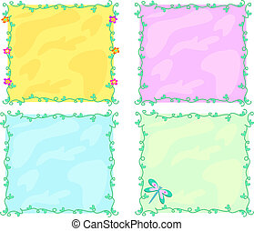 Mix of Colorful Frames and Vines