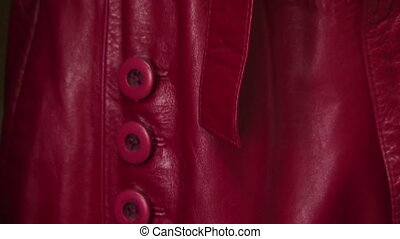 Fashionable coats - Fashionable leather coat burgundy color