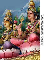 Hindu Deities - Hindu deities at a Hindu temple in Malaysia.