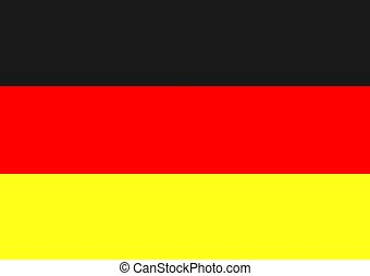 German Flag - An illustration of the German flag