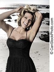 Beautiful young smiling woman