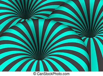 Vector Tunnel Illusion. Spiral Optical Illusion Effect