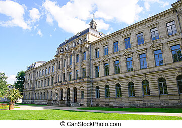 Erlangen, Germany - Schlossgarten and Main Building of...