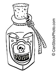 Cartoon image of poison. An artistic freehand picture.