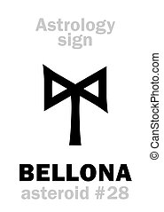 Astrology: asteroid BELLONA - Astrology Alphabet: BELLONA,...