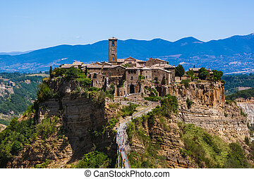 Village Civita di Bagnoregio in Italy - architecture...