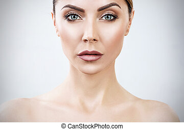 Beautiful adult woman with perfect skin.