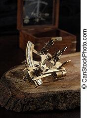 vendimia, vida, todavía, sextante
