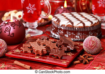 Sweet chocolate for Christmas