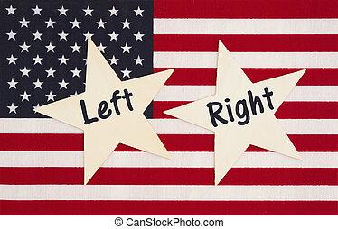 國家, 權利, 團結, 美國, 左