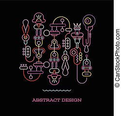 Abstract Design vector illustration - Neon colors Abstract...