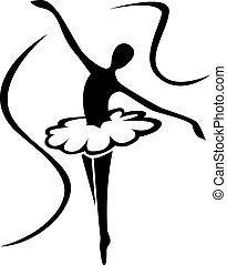 arte, balé, silueta