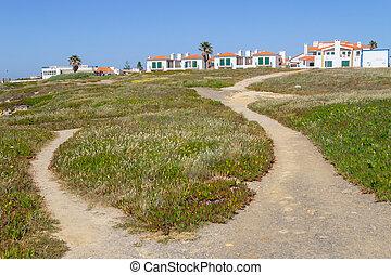 Trail to Porto Covo village, Alentejo, Portugal