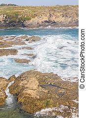 Beach and cliffs in Porto Covo, Alentejo, Portugal